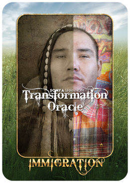 Immigration card in Sonya Shannon's Transformation Oracle