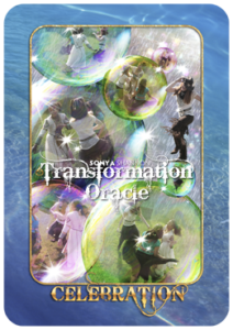 Celebration card in Sonya Shannon's Transformation Oracle