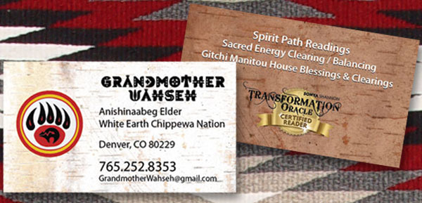 Grandmother Wahseh Business Card
