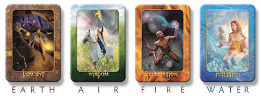 Transformation Oracle Four Elements - Earth, Air, Fire, Water