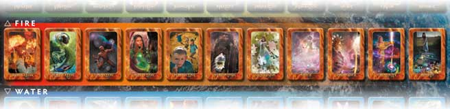 Fire Element Cards in the Transformation Oracle